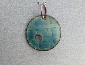 etch enamel pendant